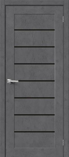 Межкомнатная дверь Браво-22 Slate Art Black Star