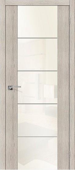Межкомнатная дверь V4 WР Cappuccino Veralinga White Pearl