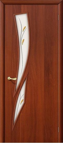 Межкомнатная дверь 8Ф Л-11 (ИталОрех) Фьюзинг