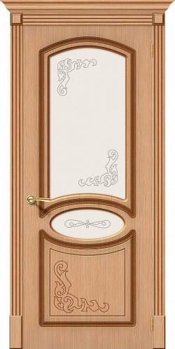 Межкомнатная дверь Азалия Ф-01 (Дуб) Худ.