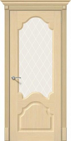Межкомнатная дверь Афина Ф-22 (БелДуб) White Сrystal
