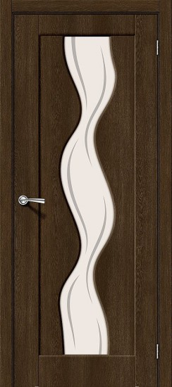 Межкомнатная дверь Вираж-2 Dark Barnwood Art Glass