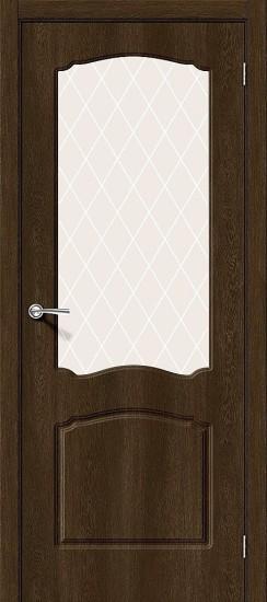 Межкомнатная дверь Альфа-2 Dark Barnwood White Сrystal