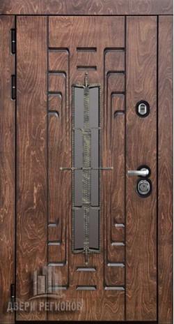 Дверь входная уличная Викинг Лиственница мореная + черная патина