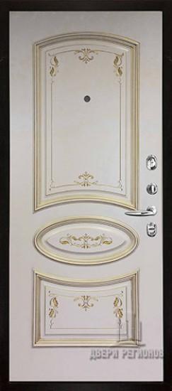 Внутренняя панель Багет 3 Эмаль слоновая кость/Патина золото