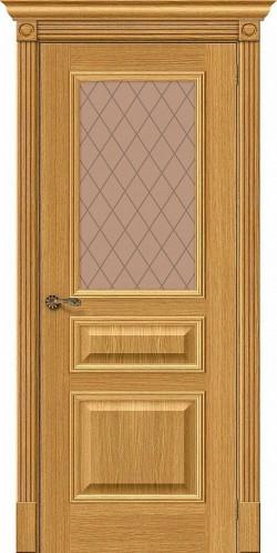 Межкомнатная дверь Вуд Классик-15.1 Natur Oak Bronze Сrystal