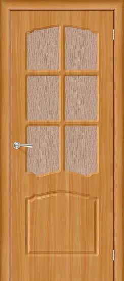 Межкомнатная дверь Альфа П-18 (МиланОрех) Риф.