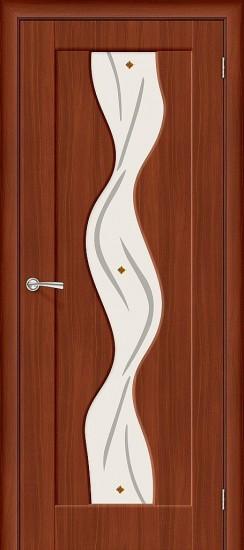 Межкомнатная дверь Вираж Плюс П-17 (ИталОрех) Худ.