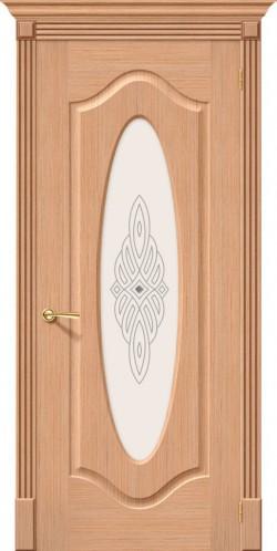 Межкомнатная дверь Аура Ф-01 (Дуб) Худ.