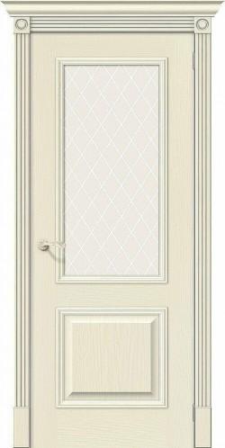 Межкомнатная дверь Вуд Классик-13 Ivory White Сrystal