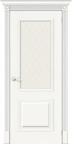 Межкомнатная дверь Вуд Классик-13 Whitey White Сrystal
