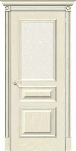 Межкомнатная дверь Вуд Классик-15.1 Ivory White Сrystal