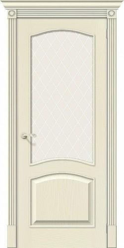 Межкомнатная дверь Вуд Классик-33 Ivory White Сrystal