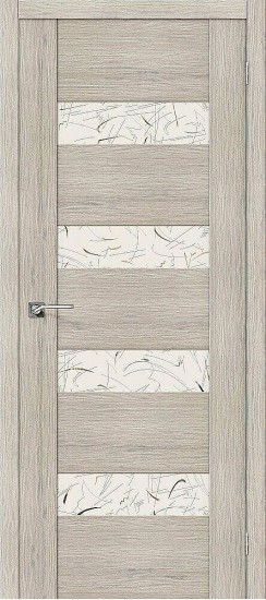 Межкомнатная дверь VM4 Cappuccino Veralinga Silver Art