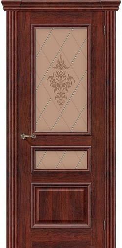 Межкомнатная дверь Вена Т-35 (Красное Дерево) Худ.