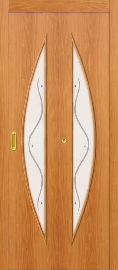Дверь-книжка 5Ф Л-12 (МиланОрех) Фьюзинг