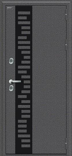Металлическая дверь Bravo T 111.Б22 Антик Серебро/Wenge Veralinga Black Star