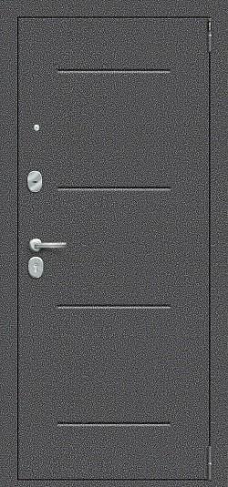 Металлическая дверь Porta S 104.П61 Антик Серебро/Wenge Veralinga