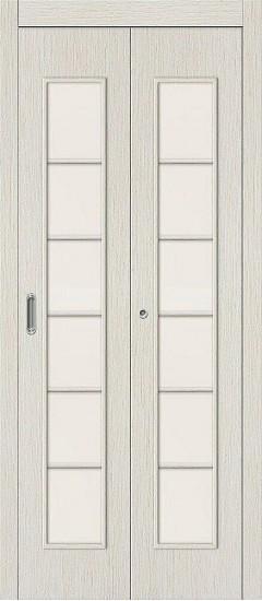 Дверь-книжка 2С Л-21 (БелДуб) Сатинато