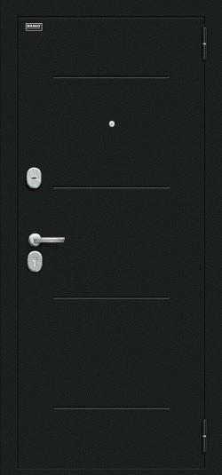 Металлическая дверь Граффити-1 Букле черное/Snow Art