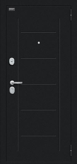 Металлическая дверь Граффити-5 Букле черное/Snow Art