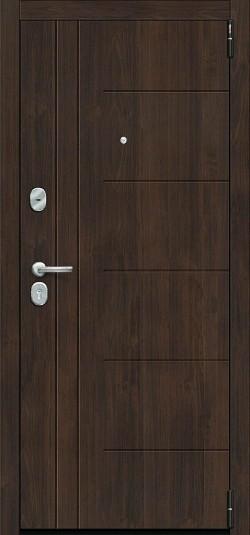 Металлическая дверь Porta S 9.П29 (Модерн) Almon 28/Cappuccino Veralinga