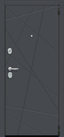 Металлическая дверь Porta S 15.15 Graphite Pro/Super White