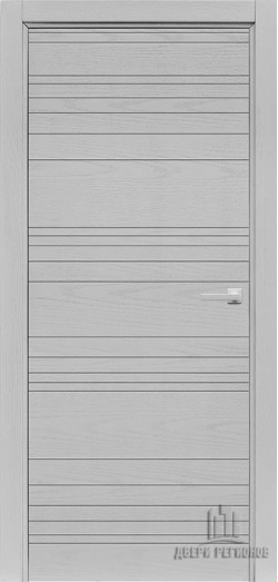 Дверь межкомнатная Linea Chiaro Patina Argento (Ral 9003)