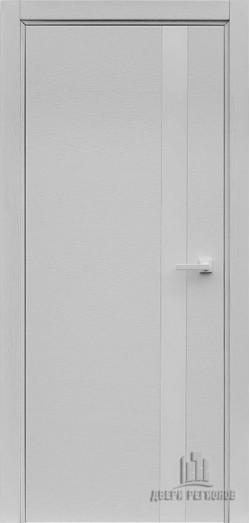 Дверь межкомнатная Uno Chiaro Patina Argento (Ral 9003)
