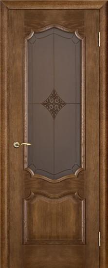 Дверь межкомнатная Премьера Ромб Каштан