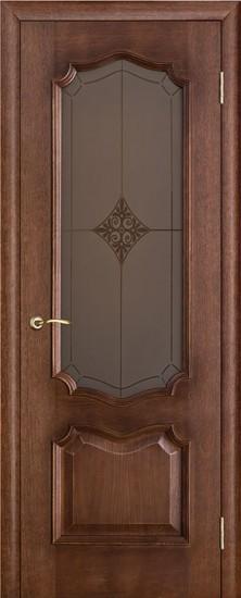 Дверь межкомнатная Премьера Ромб Золотая патина