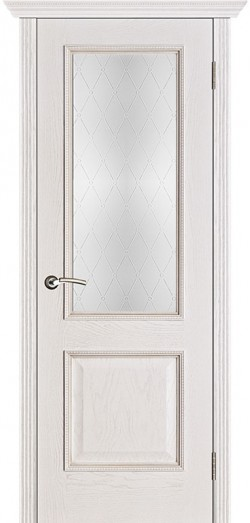 Дверь межкомнатная Шервуд Классик Белая патина