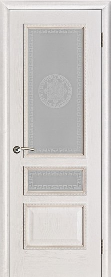 Дверь межкомнатная Вена Версаче Белая патина