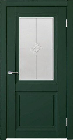 Дверь межкомнатная Деканто 1 Зеленый бархат
