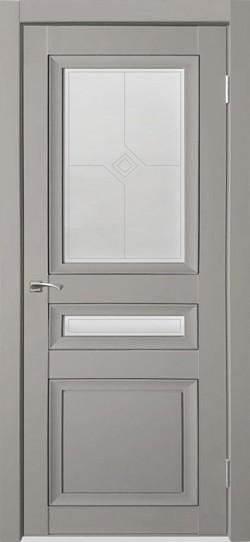 Дверь межкомнатная Деканто 4 Серый бархат