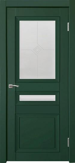 Дверь межкомнатная Деканто 4 Зеленый бархат