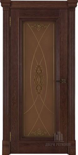 Дверь межкомнатная Тоскана витраж Мираж Дуб Brandy