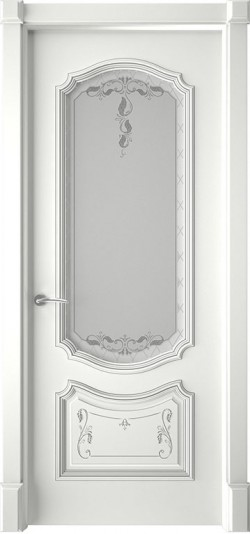 Дверь межкомнатная Багет 4 Эмаль белая