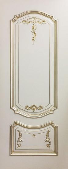 Дверь межкомнатная Багет 4/1 Эмаль слоновая кость
