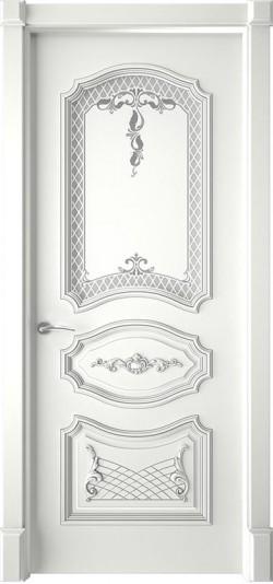 Дверь межкомнатная Багет 5/1 Эмаль белая