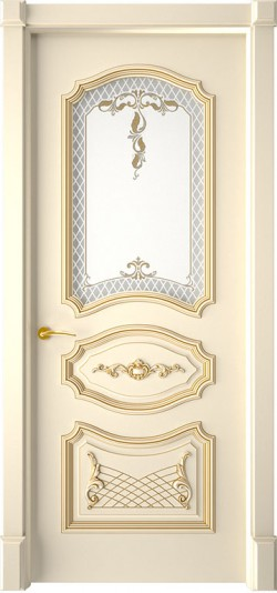 Дверь межкомнатная Багет 5/1 Эмаль слоновая кость