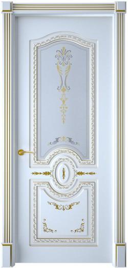 Дверь межкомнатная Диамант Эмаль белая