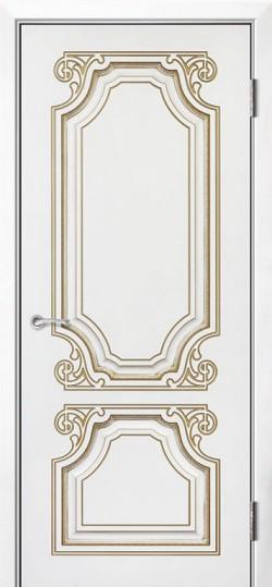 Дверь межкомнатная Каталония Эмаль белая