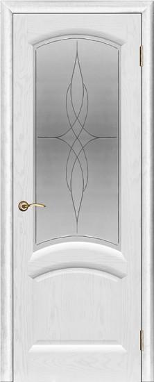 Дверь межкомнатная Лаура Ясень жемчуг