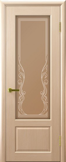 Дверь межкомнатная Валенсия 1 Беленый дуб