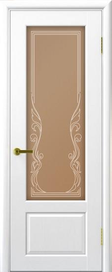 Дверь межкомнатная Валенсия 1 Ясень жемчуг