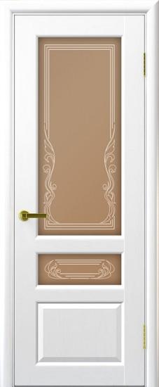 Дверь межкомнатная Валенсия 2 Ясень жемчуг
