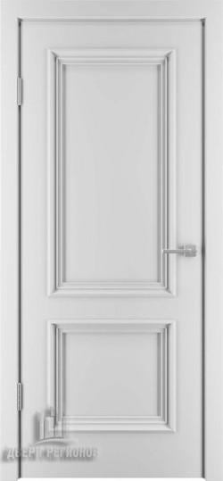 Дверь межкомнатная Бергамо 4 Эмаль белая (Ral 9003)