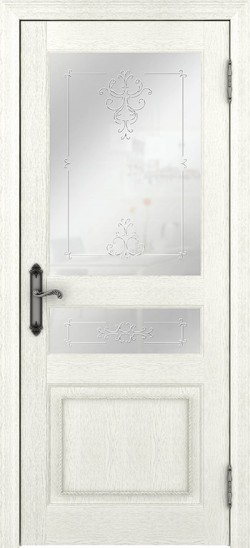 Дверь межкомнатная Palermo 400012 Ясень перламутр