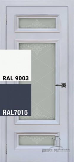Дверь межкомнатная Неаполь 3 Ral-7015, Ral-9003